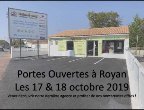 Portes Ouvertes les 17 & 18 Octobre 2019 à Royan